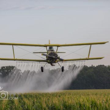JoeGo Photo Crop Dusting plane in Lambton County, ON