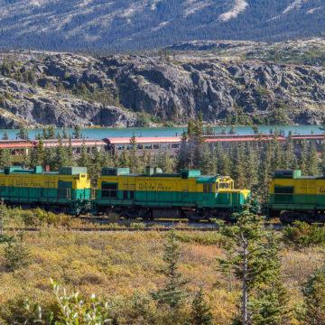 Iconic White Pass Summit Train in Skagway, Alaska
