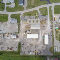 Aerial images of CHEMFab industries in Corunna, Ontario