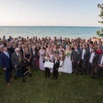 Group Shot Beach Wedding at the Sarnia Riding Club in Sarnia, ON