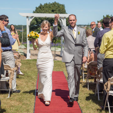 Officially Hitched at this summer wedding near the ocean in PEI